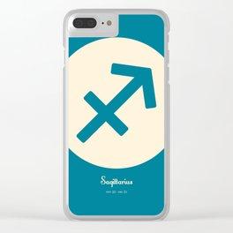 Sagittarius Symbol Blue Clear iPhone Case