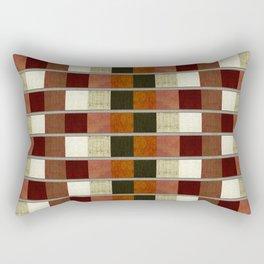 """Retro Abstract Squares Pattern"" Rectangular Pillow"