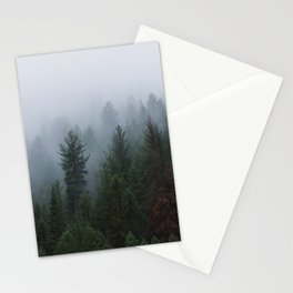 Into the Deep, Foggy, Forest Stationery Cards