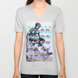 Statue With A Dot Gradient 2 Unisex V-Neck