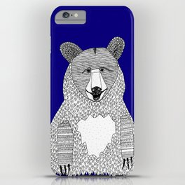 Blue Bear iPhone Case