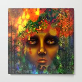 California's Ablaze (A fundraiser for the #ValleyFire victims) Metal Print