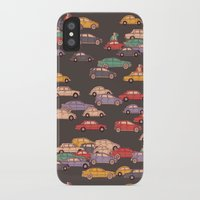 mercedes iPhone & iPod Cases featuring Never-ending traffic jam by smallDrawing