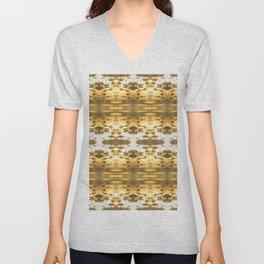 GoldBlossom Unisex V-Neck