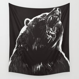 Bear, sketch 2 Wall Tapestry