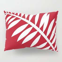 PALM LEAF RED AND WHITE PATTERN Pillow Sham