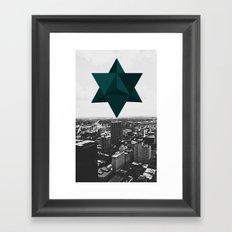 Star Tetrahedron Descending Framed Art Print