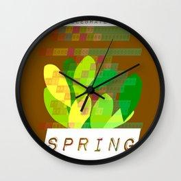 Celebrate Spring Wall Clock