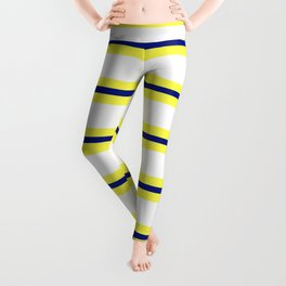 Nautical Yellow, White and Navy, Crisp and Clean Lines Leggings