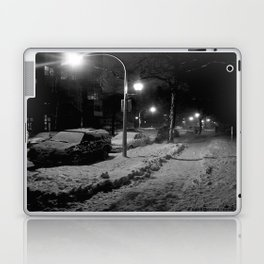 Chicago in Snow: A Study in White and Black #2 (Chicago Winter Collection) Laptop & iPad Skin