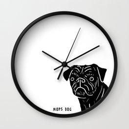 Pug Illustration Wall Clock