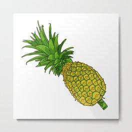 Pi the pineapple Metal Print