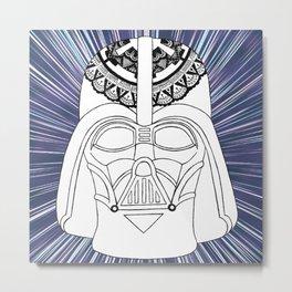 Darth Vader Mandala Metal Print