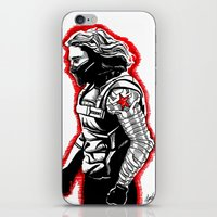 the winter soldier iPhone & iPod Skins featuring Winter Soldier by Lydia Joy Palmer