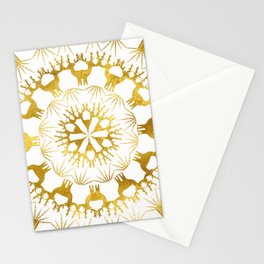Gold Christmas 05 Stationery Cards