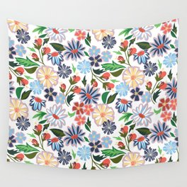 Springtime Floral Wall Tapestry