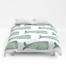 Friendly whale from the sea Comforters