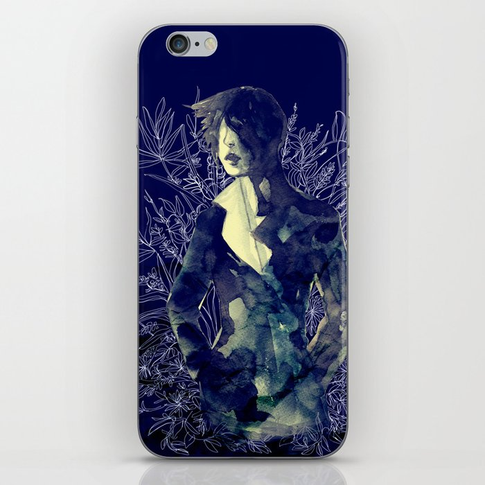 Shadow-man in conscious flowering ornament   iPhone Skin