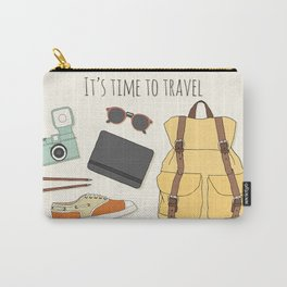 It's Time to Travel Carry-All Pouch