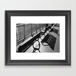 Beachy Benches Framed Art Print