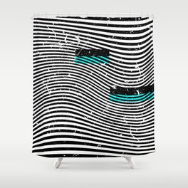 Striposcopy Shower Curtain
