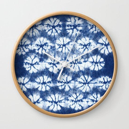 Shibori two Wall Clock