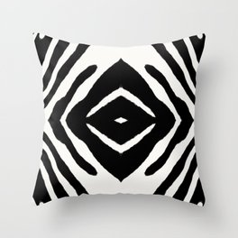 Black Ink Medallion by Juul Throw Pillow