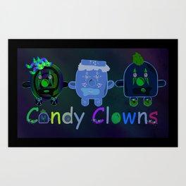 candy clowns Art Print