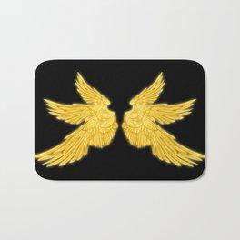 Golden Archangel Wings Bath Mat