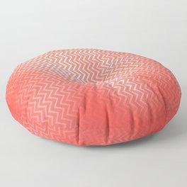 Chevron pattern in peach echo with texture Floor Pillow