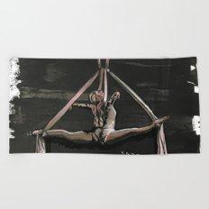 Subtle Splits Triangle Beach Towel