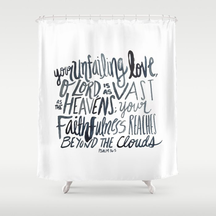 Psalm 365 Shower Curtain By Annointedhome