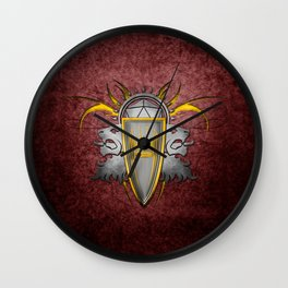 D20 Master of Dungeons and Dragons Red Wall Clock