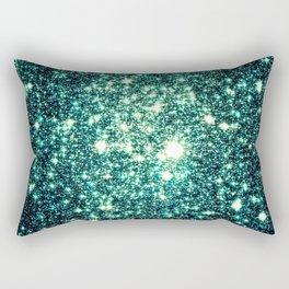 Emerald City Galaxy Sparkle Rectangular Pillow