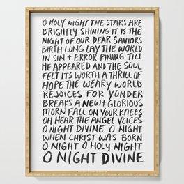O Night Divine Serving Tray