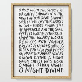 O Night Divine Serving Tray