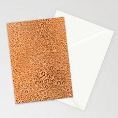 Water Condensation 05 Orange Stationery Cards