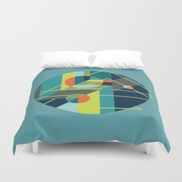 Scenarios, No. 1, on Blue Duvet Cover