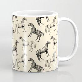 HORSES - Ecru Coffee Mug