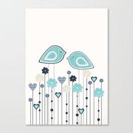 I heart birdies Canvas Print