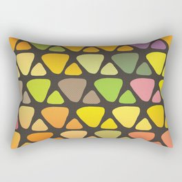 Bright colorful abstract triangles retro pattern Rectangular Pillow