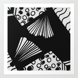 wavy circle pattern design Art Print