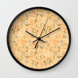 Cattail Chaos Wall Clock