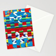 Saturated abstract Stationery Cards