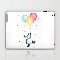 Birthday Panda Balloons Cute Animal Watercolor Laptop & iPad Skin