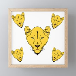 Lion Vector Art and Graphics / GFTLion002 Framed Mini Art Print