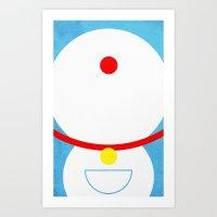 doraemon Art Prints featuring Doraemon by theLinC