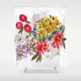 Farmers Market Bouquet 1 Shower Curtain
