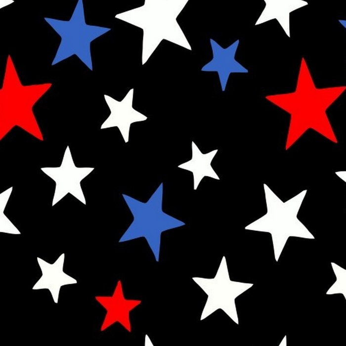 Bold Patriotic Stars In Red White and Blue on Black Leggings