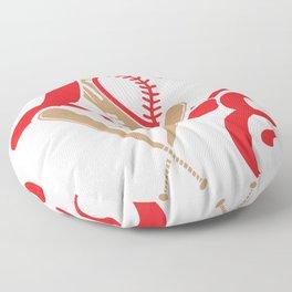 Baseball Lovers Softball Mom Fan Gift Floor Pillow